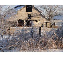BARN AND ICE Photographic Print