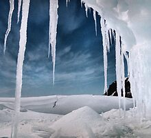 View from an Iceberg Cave by Carole-Anne