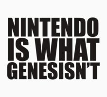 Nintendo is what Genesisn't by shadeprint