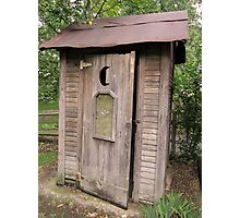 Old Antique Country Outhouse Bathroom  Photographic Print
