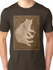 Fat Cat In the Grass Unisex T-Shirt