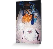 siboney loop - oranges blue glass Greeting Card