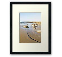 tidal coastline Framed Print