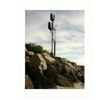 Railroad signal Art Print