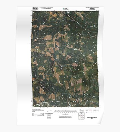 USGS Topo Map Washington State WA Hatchet Mountain 20110405 TM Poster