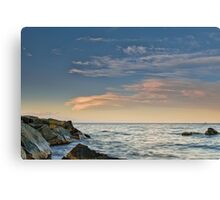 Lenticular clouds on the horizon Canvas Print