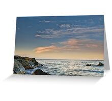 Lenticular clouds on the horizon Greeting Card