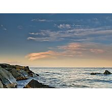 Lenticular clouds on the horizon Photographic Print