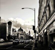 Flinders Street Station, 5pm by sebastian