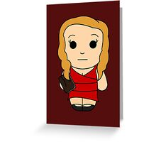 Claire (Red Song) - Black Box Films: BOXIES Greeting Card