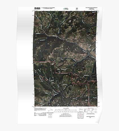 USGS Topo Map Washington State WA Coxit Mountain 20110429 TM Poster