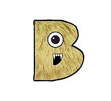 Monster Letter B Photographic Print
