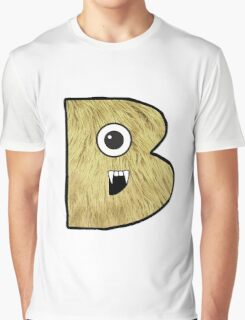 Monster Letter B Graphic T-Shirt