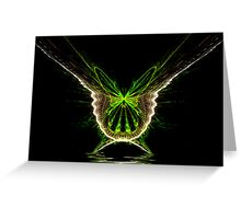 Electric Butterfly Greeting Card