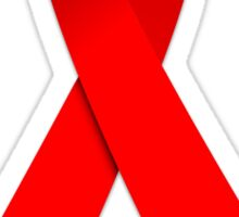 Red AIDS Awareness Ribbon Sticker Sticker