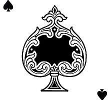 Ace of Spades Playing Card Sticker by ukedward