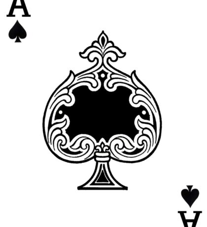 Ace of Spades Playing Card Sticker Sticker