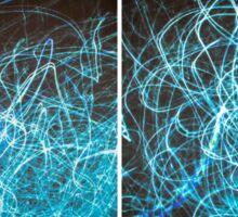Lightpainting Quads Art Print Photograph 2 Sticker
