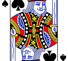 King of Spades Playing Card Sticker by ukedward