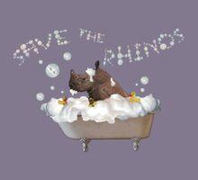 Splish Splash, Rhino Taking a Bath! Kids Tee