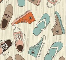 doodle shoes iphone case by Anastasiia Kucherenko
