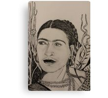 Frida Pen and Ink Canvas Print