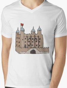 The tower of London  Mens V-Neck T-Shirt