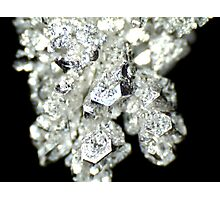 Pure Silver As Crystal Photographic Print