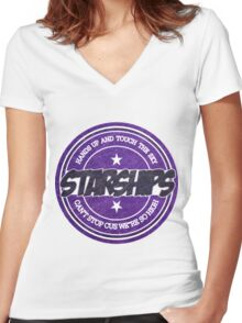 Nicki Minaj - Starships Vintage Scratched Sticker Women's Fitted V-Neck T-Shirt