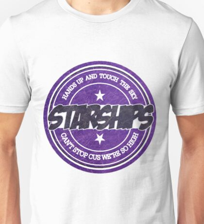 Nicki Minaj - Starships Vintage Scratched Sticker Unisex T-Shirt