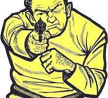 Thug Target Sticker by ukedward