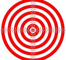 Shooting Target Sticker by ukedward