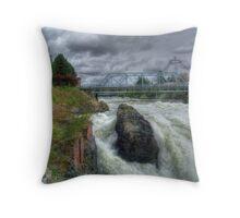 Waterfalls Through The City Throw Pillow