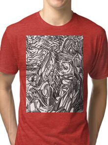 freestyle ink drawing 002 Tri-blend T-Shirt