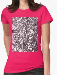 freestyle ink drawing 002 Womens Fitted T-Shirt