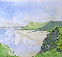 Rhosilli Bay , Gower (1) by HurstPainters