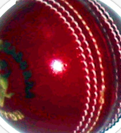 Red Leather Cricket Ball Sticker Sticker
