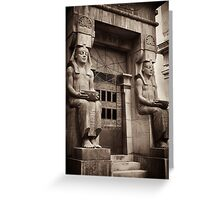 egyptian tomb guardians Greeting Card