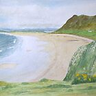 Rhosilli Bay, Gower (2) by HurstPainters