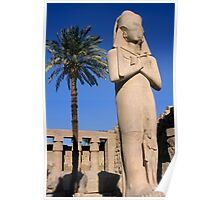 Majestic statue of Ramses II at Karnak Temple, Luxor, Egypt. Poster
