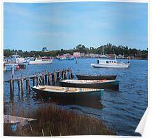 Strahan Tasmania boats Poster