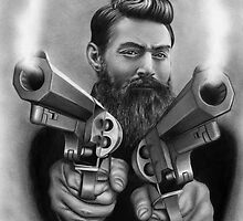 Ned Kelly drawing design by John Harding