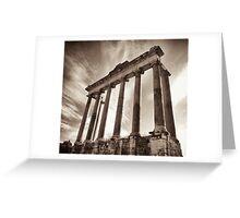 roman temple ruin Greeting Card
