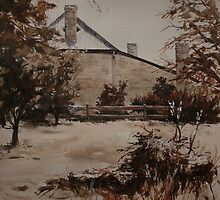 Ross Cottage in Sepia by Pauline Winwood