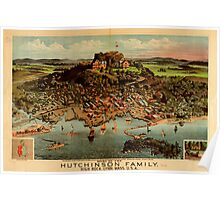 Panoramic Maps Home of the Hutchinson Family High Rock Lynn Mass USA Poster