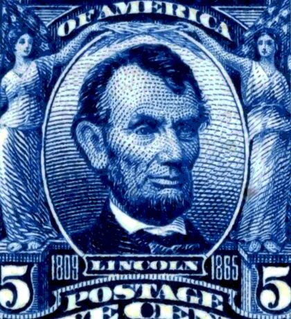 USA Abraham Lincoln Postage Stamp Sticker