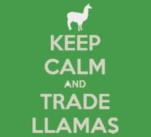 Keep calm and love llamas Baby Tee