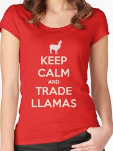 Keep calm and love llamas Women's Fitted Scoop T-Shirt
