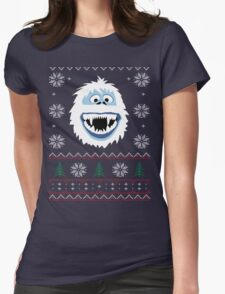 Bumble's Ugly Sweater Womens Fitted T-Shirt