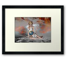 An Angel Weeps Framed Print